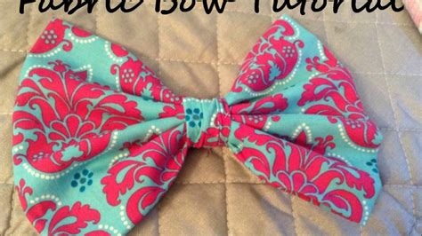 how to make upholstery patterns fabric bow tutorial youtube