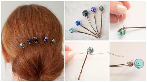 how to bead hair how to make wire wrapped beaded hair pins simple craft ideas