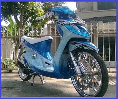 Modif Mio Sporty Warna Biru by Modif Motor Mio Sporty Warna Biru Modifikasi Motor
