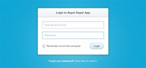 simple php page template clean simple login form psd
