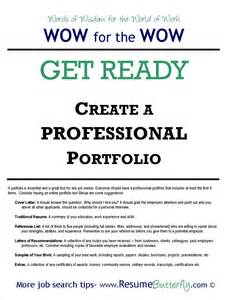 how to create a professional search portfolio resume