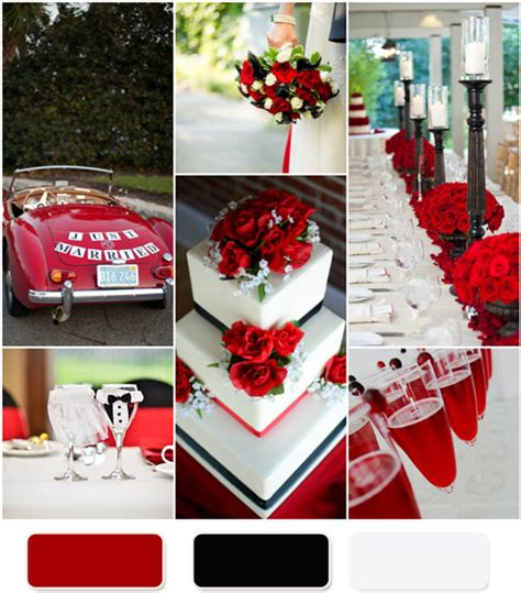wedding themes red black and white perfect shades of blue wedding color ideas and wedding