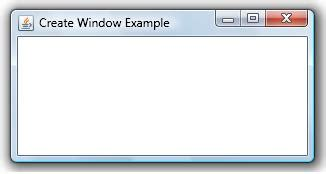 how to create a frame in java using swings create frame window exle java exles java program