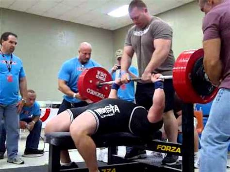 world bench press record raw jeremy hoornstra all time world record 242 raw bench