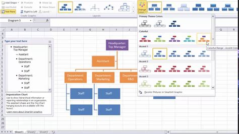 Organization Chart Template Excel Quick Easy Youtube Chart Excel Template