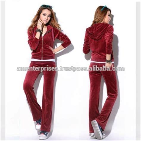 Gw192b1 Setelan Pajamas 100 Cotton new fashion design velvet sweat suit for top
