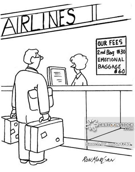 United Airlines Extra Baggage by Baggage Fee Cartoons And Comics Funny Pictures From