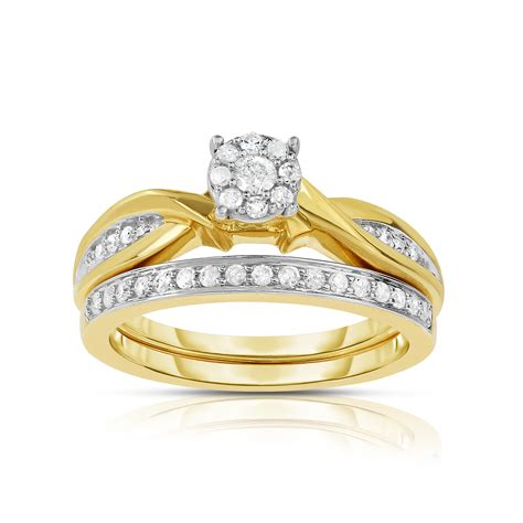 tradition diamond 10k yellow gold 25 cttw certified