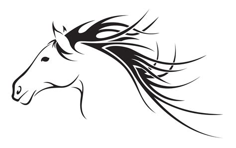 horse tattoo designs free outline cliparts co