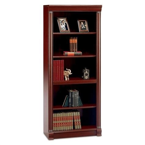 bush furniture birmingham 5 shelf wood harvest cherry