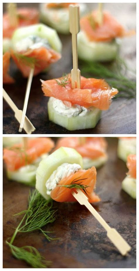 Light Appetizers cucumber bites light appetizers and smoked salmon on