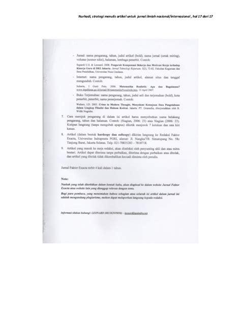bentuk format artikel jurnal format membuat artikel ilmiah strategi menulis artikel