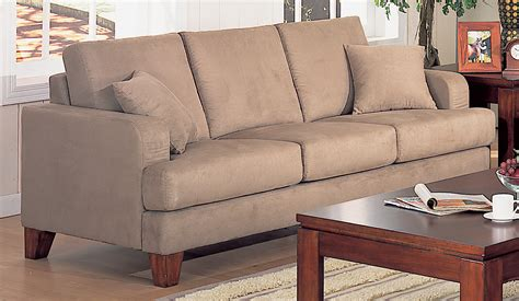 sofas microfiber darcy microfiber sofa with optional pull