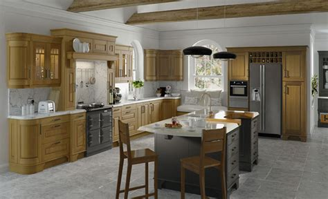 Kitchen Designs Dante Light Oak And Painted Lava Light Oak Kitchens