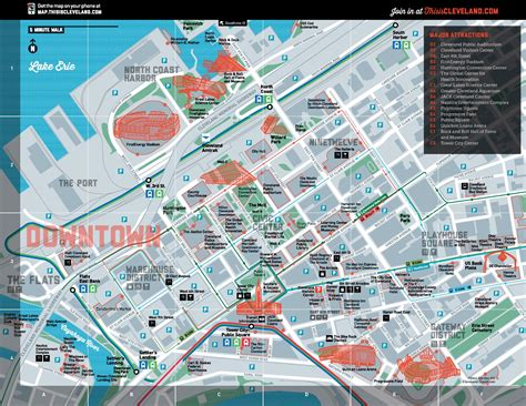 map of attractions cleveland tourist attractions map