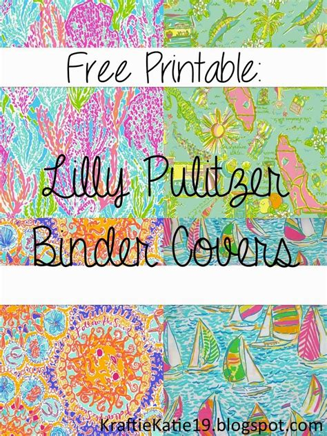 free printable binder covers lilly pulitzer kraftie katie lilly pulitzer binder covers diy free printable