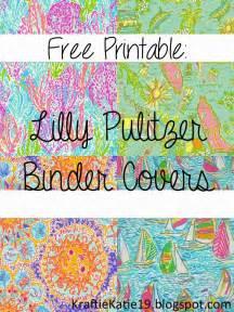 diy printable binder covers kraftie katie lilly pulitzer binder covers diy free printable