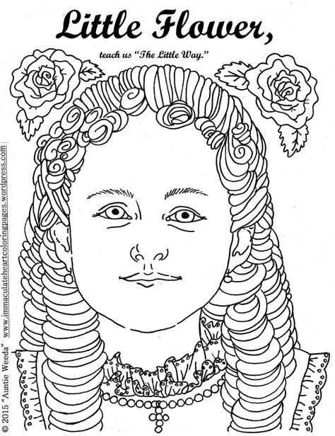 coloring pages for children s ministry flower therese of lisieux coloring page flower