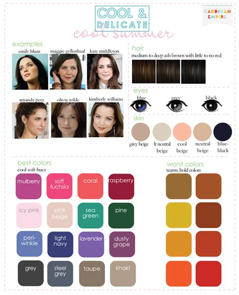 summer season colors summer winter cool summer color palette brown hairs