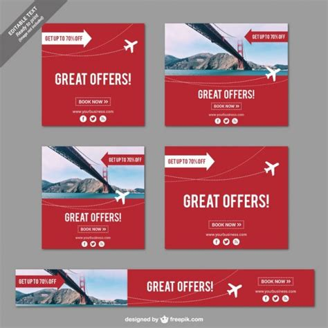 Great Offers For You by Great Offers Banners For Travels Vector Free
