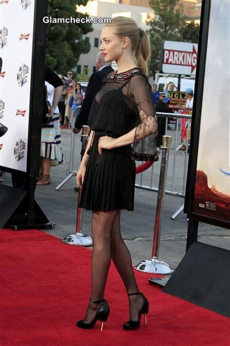 sheer black dress amanda seyfried