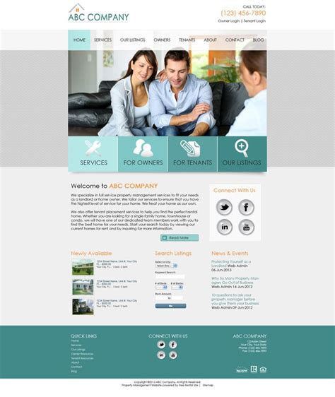 Pin By Property Management Websites Pmw On Pmw Smart Site Designs Property Management Website Templates