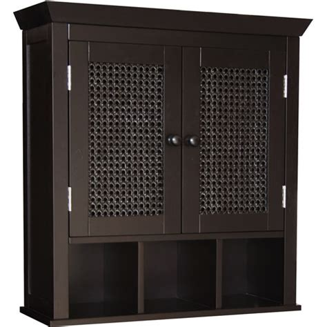 Walmart Wall Cabinet by Wilmot Wall Cabinet With Cubbies Espresso Walmart