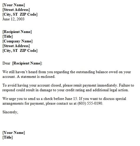 payment demand letter template small business pinterest