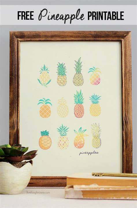 diy printable home decor 25 pineapple crafts free printables diy goodness