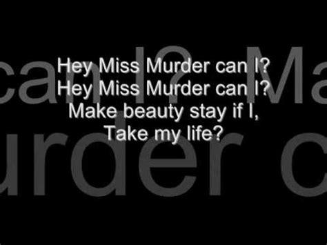 afi miss murder lyrics afi prelude 12 21 miss murder lyrics