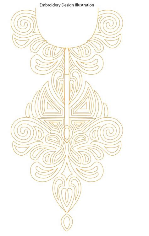 neck embroidery design pattern 4432 best art embroidery images on pinterest