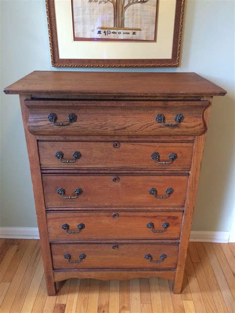 Bureau Chest Of Drawers Beautiful Antique Early American Boy Solid Oak Dresser Bureau Chest Of Drawers W Brass
