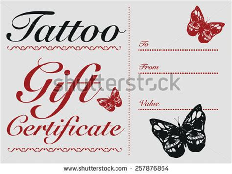 printable tattoo voucher tattoo gift certificate template recommendation letter