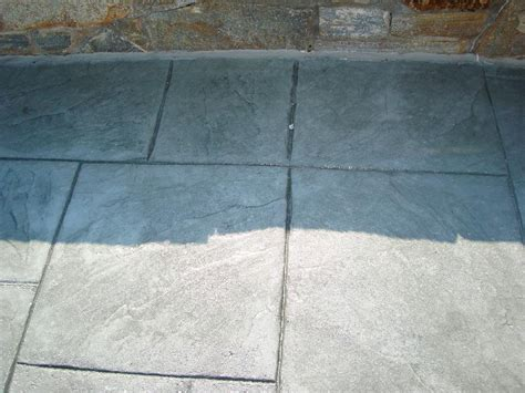 grey patterned concrete sted concrete patio steel grey with dark grey release