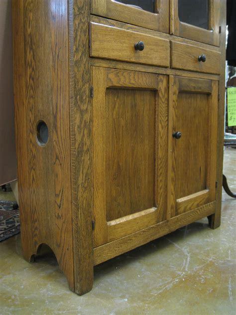Click Cupboard Antique Furniture China Display Cabinet Tiger Oak Pie