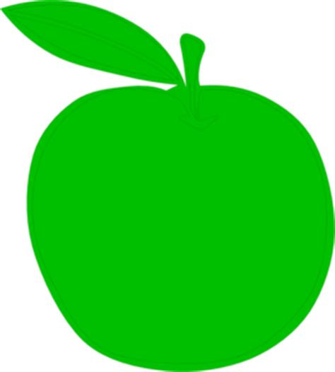 Green Apple Outline by Green Apple Clip At Clker Vector Clip Royalty Free Domain