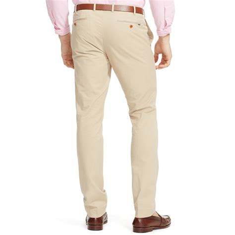 Slim Fit polo ralph slim fit stretch chino in khaki for classic khaki lyst