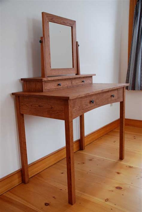Handmade Vanity Table - handmade cherry mission dressing table vanity from vermont