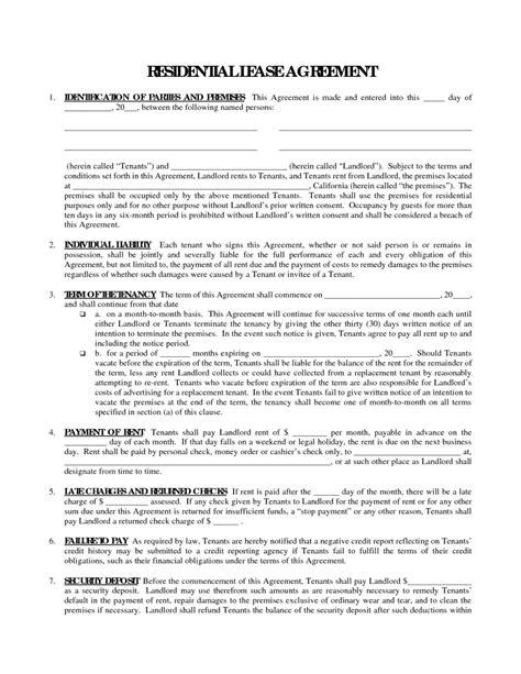 printable lease agreement virginia free printable residential lease agreement form sle