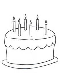 Candles Coloring Page Furthermore Birthday Cake  sketch template