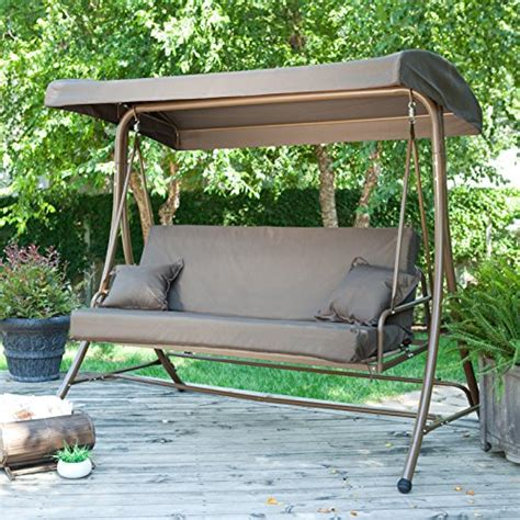 swing bed with canopy coral coast siesta 3 person canopy swing bed at ozaccess