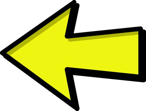 arrow clipart free yellow arrow left clip at clker vector clip