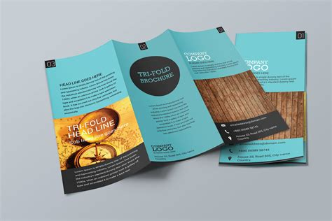 Simple Trifold Brochure Design Brochure Templates Creative Market Easy Brochure Templates