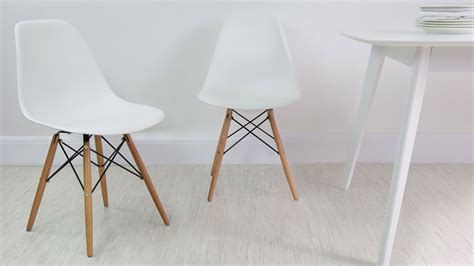 White Gloss 4 Seater Table And Eames Style Dining Chairs Uk White Dining Table And Chairs Uk