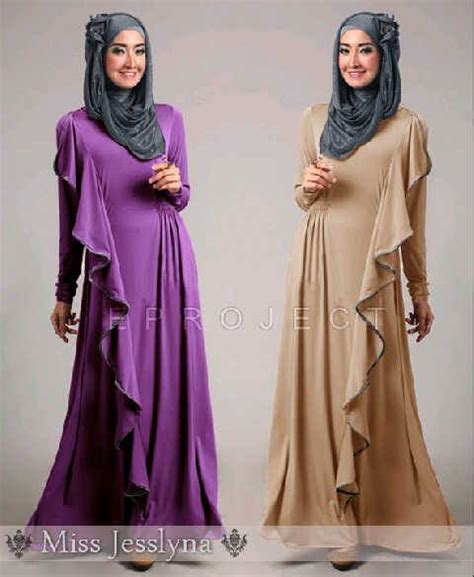 Anissa Maxi Busana Muslim maxi dress pesta brokat pashmina baju gamis muslim ruffle brukat