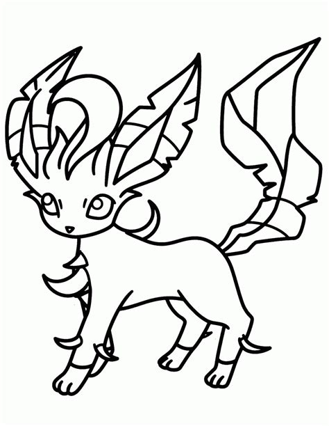pokemon coloring pages of leafeon pokemon leafeon coloring pages just colorings