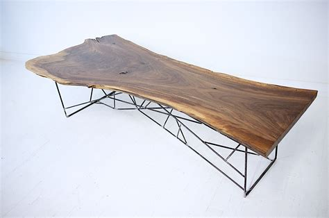 Walnut Slab Coffee Table Made Claro Walnut Slab Coffee Table The Ricochet By Moderncre8ve Custommade
