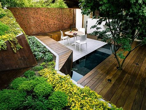 backyard sitting area multi layered japanese style garden and sitting area