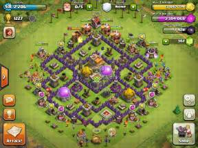 Clash of clans top th7 trophy base main game clash of clans di