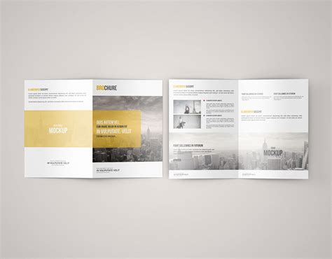 free design mockup brochure a5 bi fold brochure mockup free free mockup